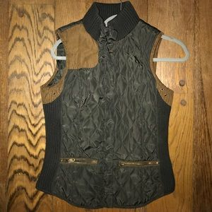 Zara Hunter Green Quilted Vest